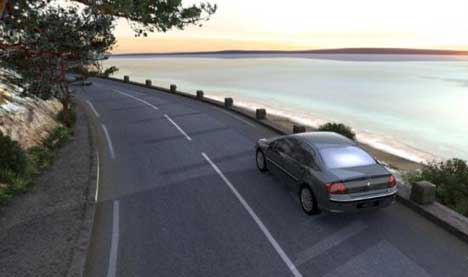 Peugeot 407 on Sea Road in End of Game TV Ad
