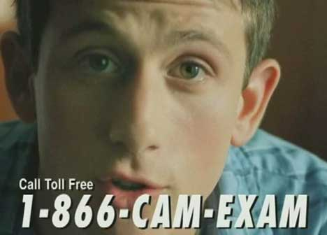 Cam with his toll free number
