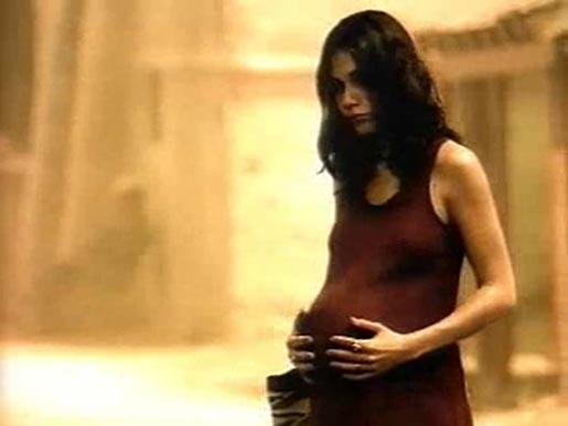 Pregnant woman in France Telecom ad