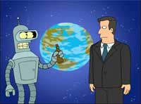 Al Gore and Bender in Futurama Trailer
