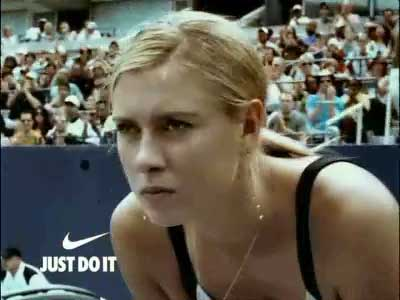 Sharapova faces the serve in Nike ad
