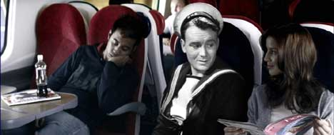 John Mills as Shorty in Virgin Trains ad