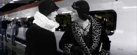 Jack Lemmon and Tony Curtis in Virgin Trains ad