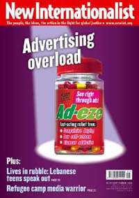 New Internationalist Magazine - Advertising Overload