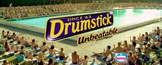 Final scene from Drumstick Summer Ritual TV ad