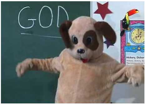 Dyslexic Dog writes God on the board