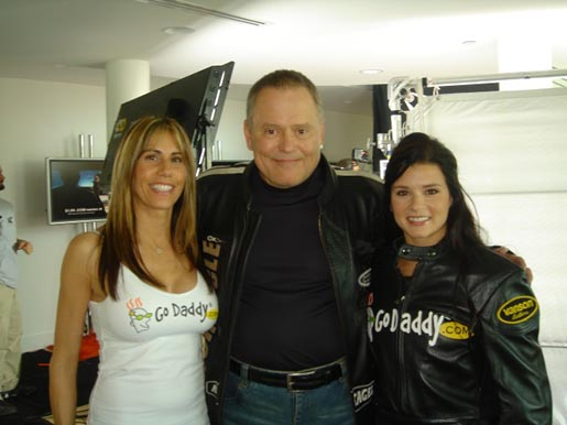 GoDaddy.com Bob Parsons Danica Patrick and Valerie Thompson