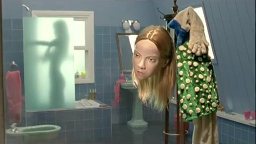 Woman takes shower in Rexona Dolls TV ad