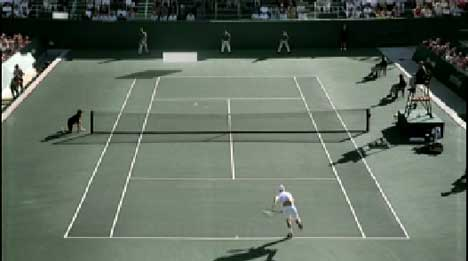 Roddick plays against Pong