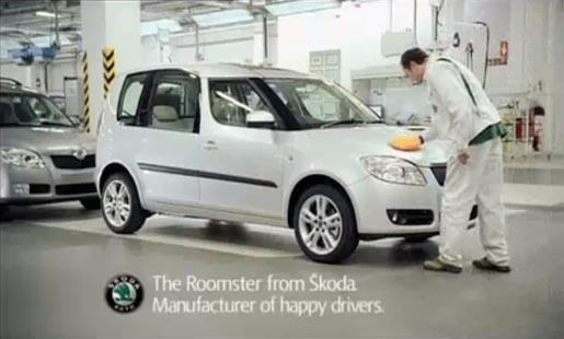 Skoda Roomster Maker of Happy Drivers