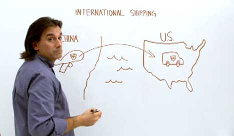 China to US whiteboard ad for UPS