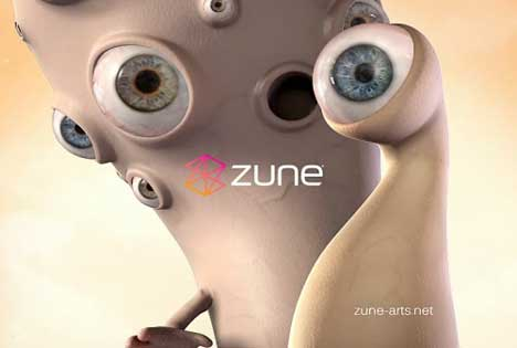 Creatures with eyes in Zune Eyes video