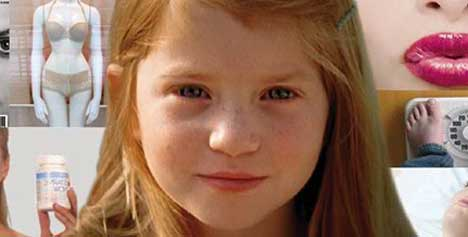 Red headed girl in Dove Onslaught TV ad