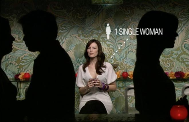 Single Woman in RSVP television commercial