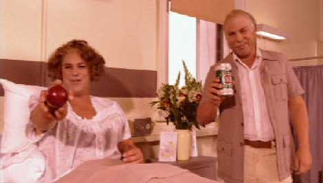 Shane Warne as his parents in VB TV ad