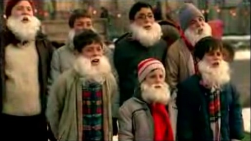 Bearded Carollers in Coca Cola Beard of Kindness commercial