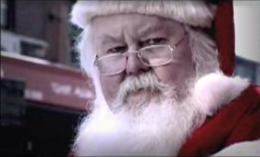 Santa Claus in Greenpeace commercial