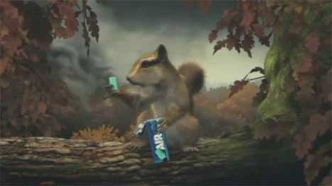 Chipmunk eats Vigorsol Air Action gum