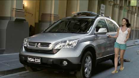 Girl with Honda CRV TV ad