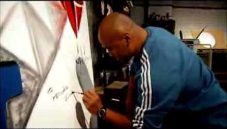 Jonah Lomu paints in Adidas TV Ad