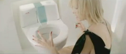 CWS toilet in Say No To Dirt TV ad