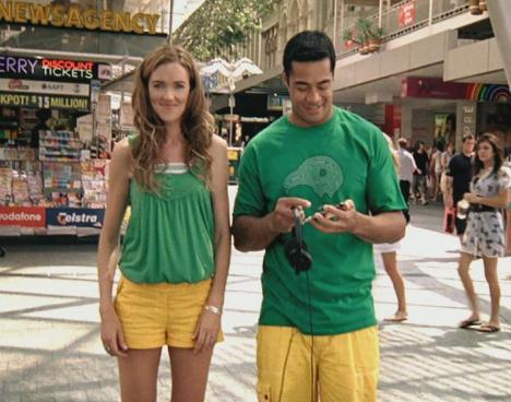 Petra Bagust and Robbie Magasiva