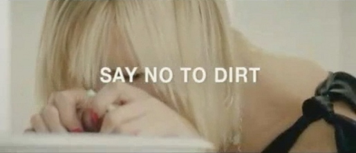 Final frame from Say No To Dirt TV ad