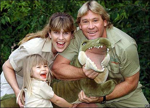 Steve Terri and Bindi Irwin