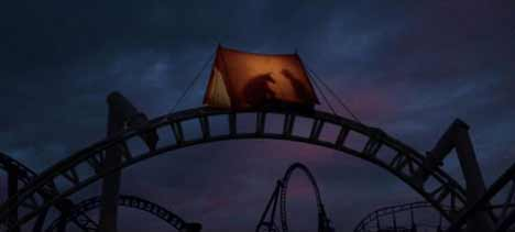 Tent at the top of Brokeback Mountain roller coaster