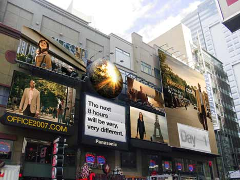 Office 2007 billboard in New York