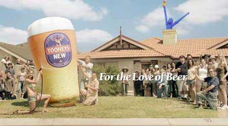 End frame from Tooheys Tallmen TV Ad
