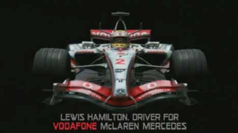 Lewis Hamilton in Vodafone Stars advert