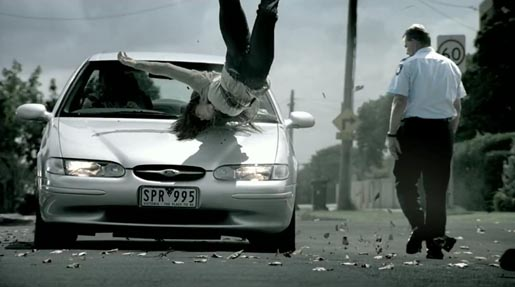 Pedestrian collision in TAC Reconstruction TV ad