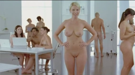 Nudists in Elave TV Ad. The video, featuring nude women and men and not safe ...