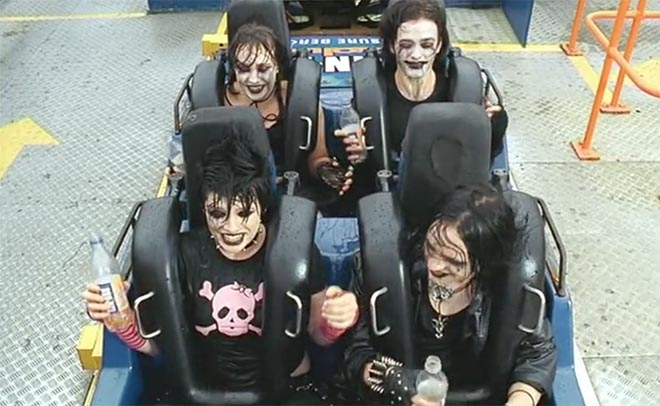 Goths enjoy IRN BRU Rollercoaster in Blackpool