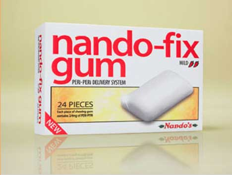 Nandos Fix Gum packet