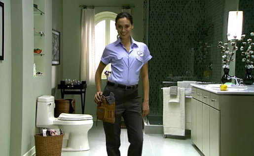 Plumber Jo in Kohler Toilets TV commercial