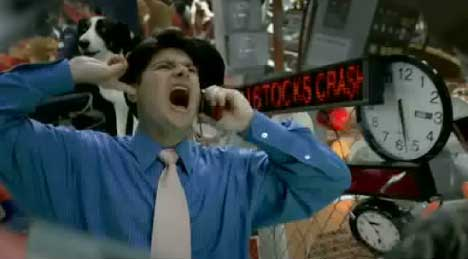 Stock market stress in Propel TV ad