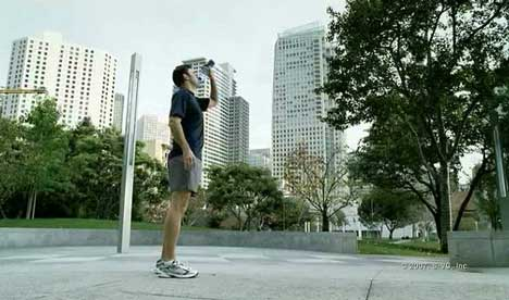 Runner drinks Propel water in TV ad