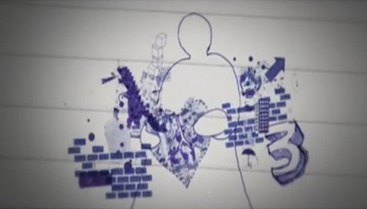 Doodle figure in Samaritans TV advert