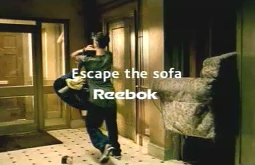 Escape the Sofa in Reebok TV ad
