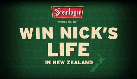 Steinlager Win Nick's Life