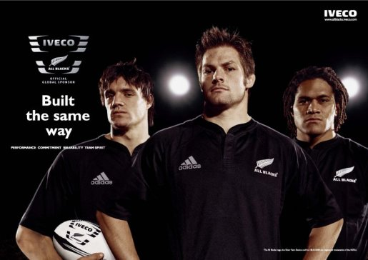 All Blacks Iveco poster