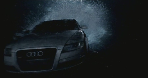 Audi A6 under water in Satellite TV ad
