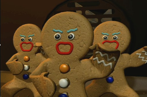 Gingerbread men in haka