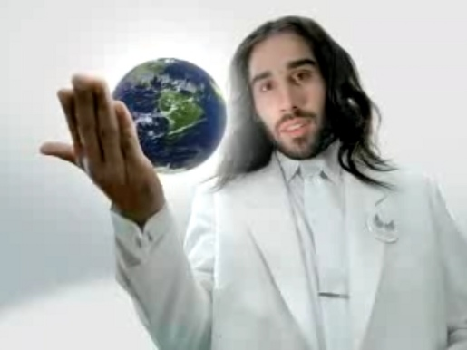 Jesus holds earth in his hands