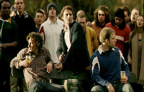 Rugby fans in Heineken Rugby World Cup TV ad