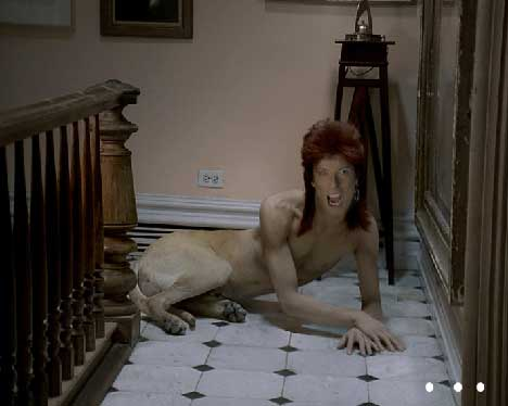 Bowie as Diamond Dog in Vittel TV ad