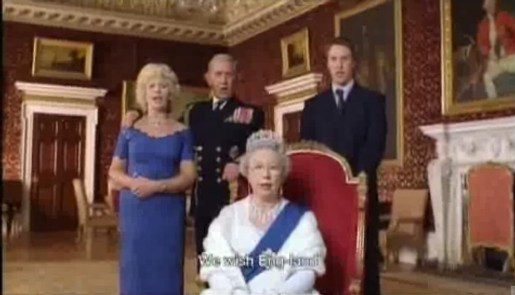 Queen and supporters in Bundy TV ad