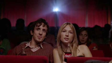Moviegoers in Coke Happiness Factory movie